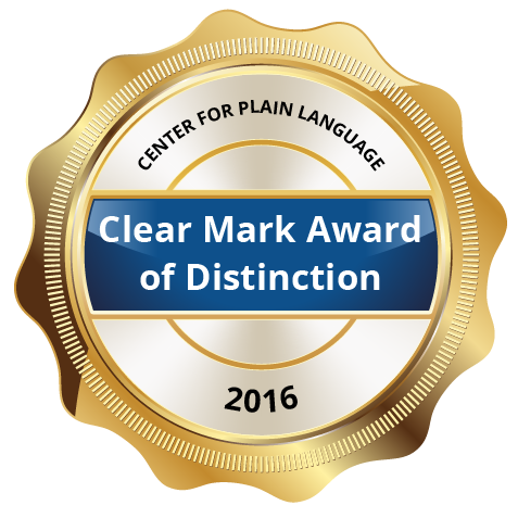 Clear Mark Award of Distinction 2016
